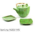Купить «Чайник и блюдца», фото № 633115, снято 28 ноября 2008 г. (c) Руслан Кудрин / Фотобанк Лори