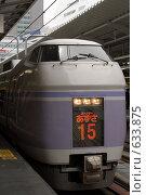 """Японский скоростной поезд """"СуперАзуса"""" (2008 год). Редакционное фото, фотограф Андрей Солодовников / Фотобанк Лори"""