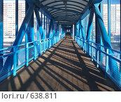 Купить «Наземный пешеходный мост внутри через Рублевское шоссе, Москва», фото № 638811, снято 1 января 2009 г. (c) Fro / Фотобанк Лори