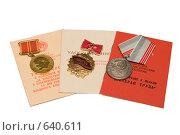 Купить «Медали и знаки отличия времен СССР», эксклюзивное фото № 640611, снято 2 января 2009 г. (c) Ирина Солошенко / Фотобанк Лори