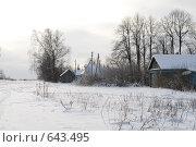 Купить «Русская зима в деревне», фото № 643495, снято 2 января 2009 г. (c) Медведева Мила / Фотобанк Лори