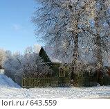 Купить «Деревенская изба зимой», фото № 643559, снято 5 января 2009 г. (c) Александр Шилин / Фотобанк Лори