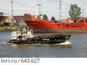 Купить «Портовый буксир», эксклюзивное фото № 643627, снято 10 сентября 2008 г. (c) Александр Щепин / Фотобанк Лори