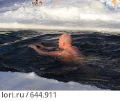 Купить «Зимнее купание в проруби», эксклюзивное фото № 644911, снято 6 января 2009 г. (c) lana1501 / Фотобанк Лори