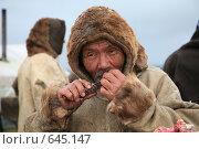 Купить «Ненецкий  оленевод», фото № 645147, снято 1 августа 2008 г. (c) Николай Гернет / Фотобанк Лори