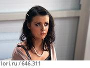 Купить «Певица Елена Кауфман», фото № 646311, снято 1 ноября 2004 г. (c) Сергей Лаврентьев / Фотобанк Лори
