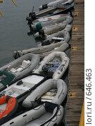 Лодки у причала (2008 год). Редакционное фото, фотограф tyuru / Фотобанк Лори