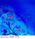 Купить «Рисунок для открытки ко дню святого Валентина», иллюстрация № 647775 (c) ElenArt / Фотобанк Лори
