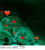 Купить «Рисунок для открытки ко дню святого Валентина», иллюстрация № 647779 (c) ElenArt / Фотобанк Лори