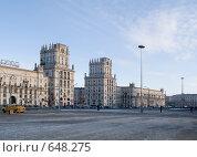 Купить «Высотка на площади Ленина. Минск», эксклюзивное фото № 648275, снято 2 января 2009 г. (c) Алина Голышева / Фотобанк Лори