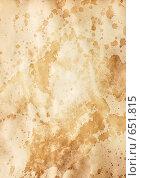 Купить «Старая бумага с пятнами», фото № 651815, снято 26 июня 2019 г. (c) Роман Сигаев / Фотобанк Лори