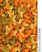 Купить «Цветные макароны», фото № 653843, снято 10 января 2009 г. (c) Абышев А.А. / Фотобанк Лори