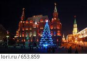 Купить «Москва новогодняя», фото № 653859, снято 8 января 2009 г. (c) Александр Гаврилов / Фотобанк Лори