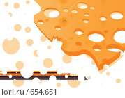 Сыр. Стоковая иллюстрация, иллюстратор Смирнова Ирина / Фотобанк Лори