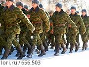 Купить «Солдаты», фото № 656503, снято 9 января 2009 г. (c) Константин Тавров / Фотобанк Лори