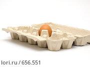Купить «Яйцо в коробке», фото № 656551, снято 6 января 2009 г. (c) Ирина Доронина / Фотобанк Лори