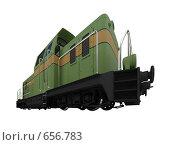 Купить «Зеленый поезд. Изолировано», иллюстрация № 656783 (c) ИЛ / Фотобанк Лори