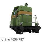 Купить «Зеленый поезд. Изолировано», иллюстрация № 656787 (c) ИЛ / Фотобанк Лори