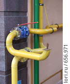 Купить «Газовый вентиль», фото № 656971, снято 9 января 2009 г. (c) Борис Горбань / Фотобанк Лори