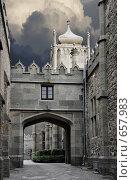 Купить «Воронцовский дворец в Крыму, Алупка», фото № 657983, снято 14 ноября 2008 г. (c) Pshenichka / Фотобанк Лори