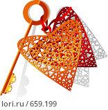 Ключ к сердцу. Стоковая иллюстрация, иллюстратор Смирнова Ирина / Фотобанк Лори