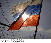 Флаг Россиии. Стоковое фото, фотограф Murat Valiev / Фотобанк Лори