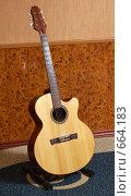 Купить «Гитара шестиструнная, вестерн», фото № 664183, снято 10 мая 2008 г. (c) Аlexander Reshetnik / Фотобанк Лори