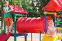 Дети на детской площадке, фото № 665519, снято 12 августа 2008 г. (c) Майя Крученкова / Фотобанк Лори
