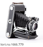 Старая среднеформатная фотокамера. Стоковое фото, фотограф Игорь Потапов / Фотобанк Лори