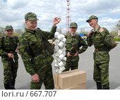 Купить «Молодые солдаты(новобранцы)», фото № 667707, снято 27 апреля 2007 г. (c) Виктор Филиппович Погонцев / Фотобанк Лори