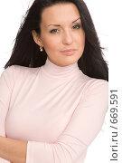 Купить «Молодая женщина», фото № 669591, снято 13 декабря 2008 г. (c) Валентин Мосичев / Фотобанк Лори