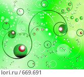 Купить «Узор на зеленом фоне», иллюстрация № 669691 (c) Анжелика Самсонова / Фотобанк Лори