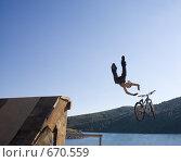 Прыгающий в воду #1. Стоковое фото, фотограф Смирнов Владимир / Фотобанк Лори