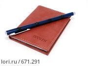Купить «Блокнот и ручка», фото № 671291, снято 15 августа 2018 г. (c) Егор Мастеров / Фотобанк Лори