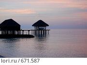 Закат на Мальдивах (2008 год). Стоковое фото, фотограф Вячеслав Москалев / Фотобанк Лори