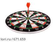 Купить «Дартс, попадание в цель, игра», фото № 671659, снято 25 ноября 2008 г. (c) Андрей Рыбачук / Фотобанк Лори