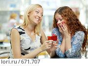Купить «Две подружки», фото № 671707, снято 27 июля 2008 г. (c) Raev Denis / Фотобанк Лори