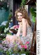 Купить «Портрет привлекательной молодой девушки», фото № 673791, снято 26 апреля 2008 г. (c) Elena Rostunova / Фотобанк Лори