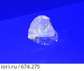 Бриллиантовое сердце на синем фоне. Стоковая иллюстрация, иллюстратор Николай Казаков / Фотобанк Лори