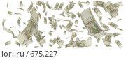 Купить «Дождь из десятирублевых купюр», иллюстрация № 675227 (c) ИЛ / Фотобанк Лори