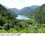 Купить «Озеро Рица», фото № 677047, снято 9 июля 2008 г. (c) Vladimir Semushin / Фотобанк Лори