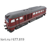 Купить «Красный поезд», иллюстрация № 677819 (c) ИЛ / Фотобанк Лори