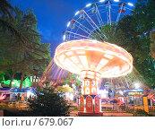 """Купить «Парк """"Ривьера"""" в Сочи, ночной вид», фото № 679067, снято 12 июня 2008 г. (c) Vitas / Фотобанк Лори"""