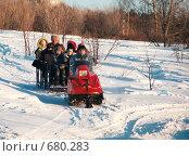Купить «Катание на снегоходе», эксклюзивное фото № 680283, снято 8 января 2009 г. (c) Free Wind / Фотобанк Лори