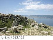 Курыканская стена на мысе Хоргой (2008 год). Стоковое фото, фотограф Елена Лавренова / Фотобанк Лори