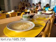 Купить «Обед в детском садике», фото № 685735, снято 3 февраля 2009 г. (c) Сергей Лаврентьев / Фотобанк Лори