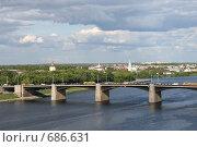 Волга вид сверху. Тверь. Стоковое фото, фотограф Анна Дегтярёва / Фотобанк Лори