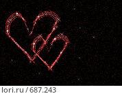 Купить «Абстракция с  cердцами», иллюстрация № 687243 (c) ElenArt / Фотобанк Лори