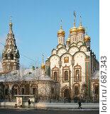 Купить «Храм Святителя Николая в Хамовниках. Москва», фото № 687343, снято 31 января 2009 г. (c) E. O. / Фотобанк Лори