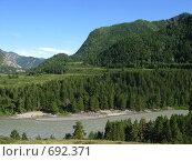 Вид на р.Катунь, Алтай. Стоковое фото, фотограф Марина Останина / Фотобанк Лори